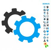 Zařízení bytu vektorové ikony s bonusem