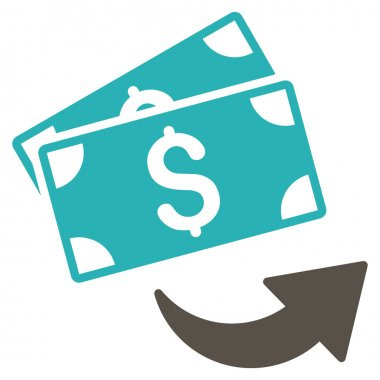 Send Money Flat Glyph Icon