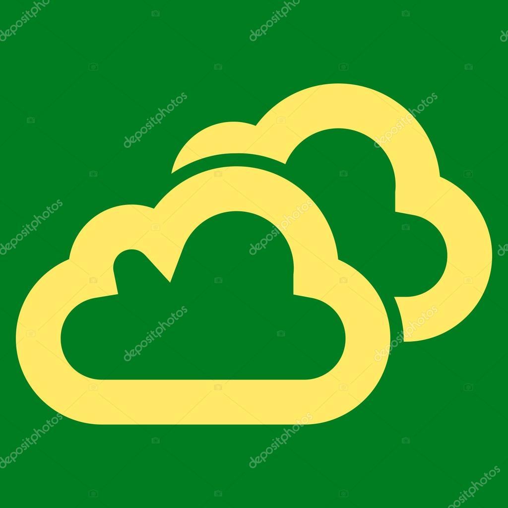 Clouds Stroke Vector Icon
