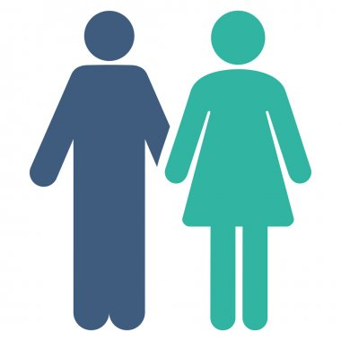 Married Couple Flat Vector Icon
