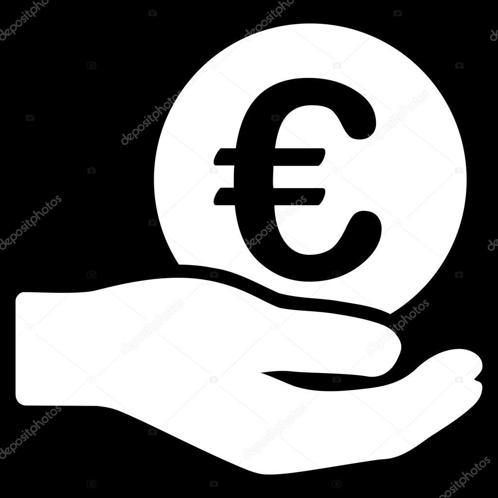 euro salaris platte vector icon stockvector ahasoft. Black Bedroom Furniture Sets. Home Design Ideas