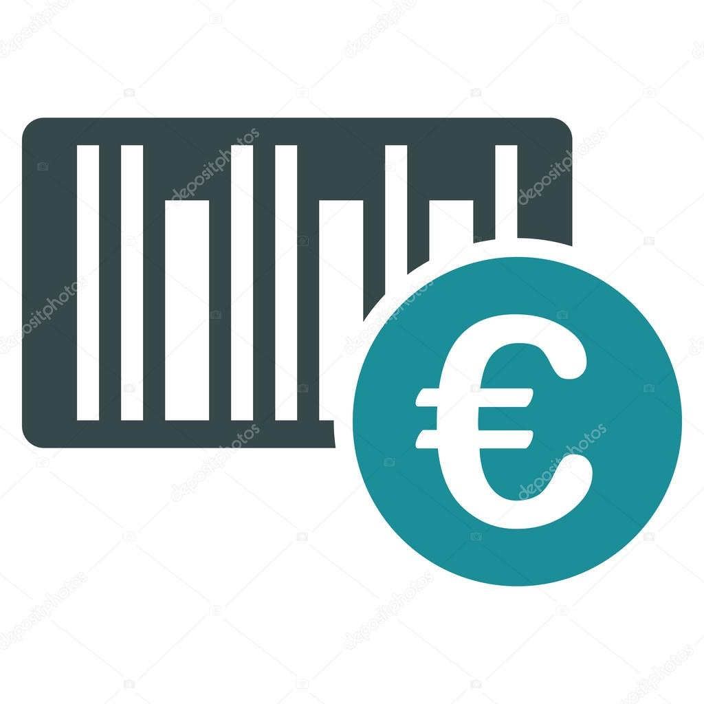 Euro bar code price flat vector icon stock vector ahasoft euro bar code price icon vector style is bicolor flat iconic symbol soft blue colors white background vector by ahasoft biocorpaavc
