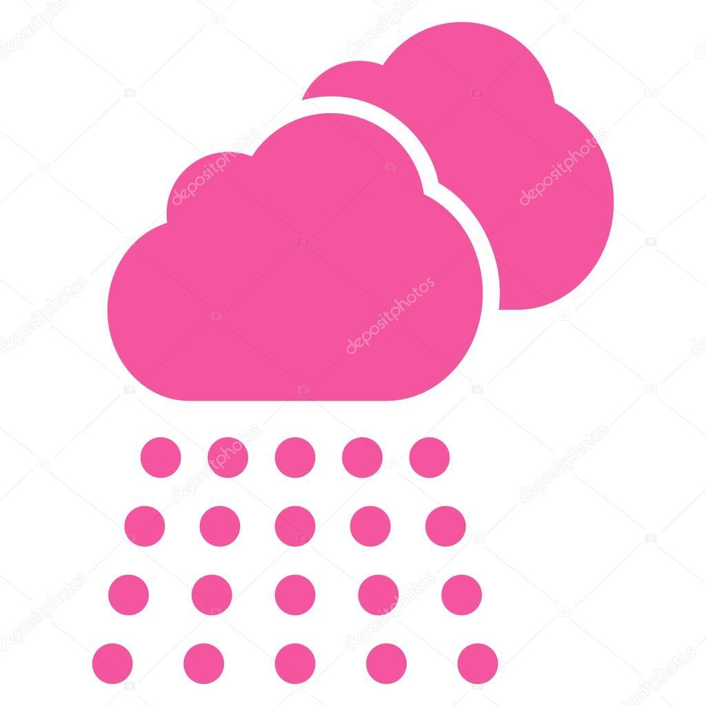 Rain Clouds Flat Vector Icon