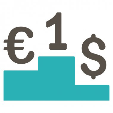 Currency Competition Flat Vector Icon