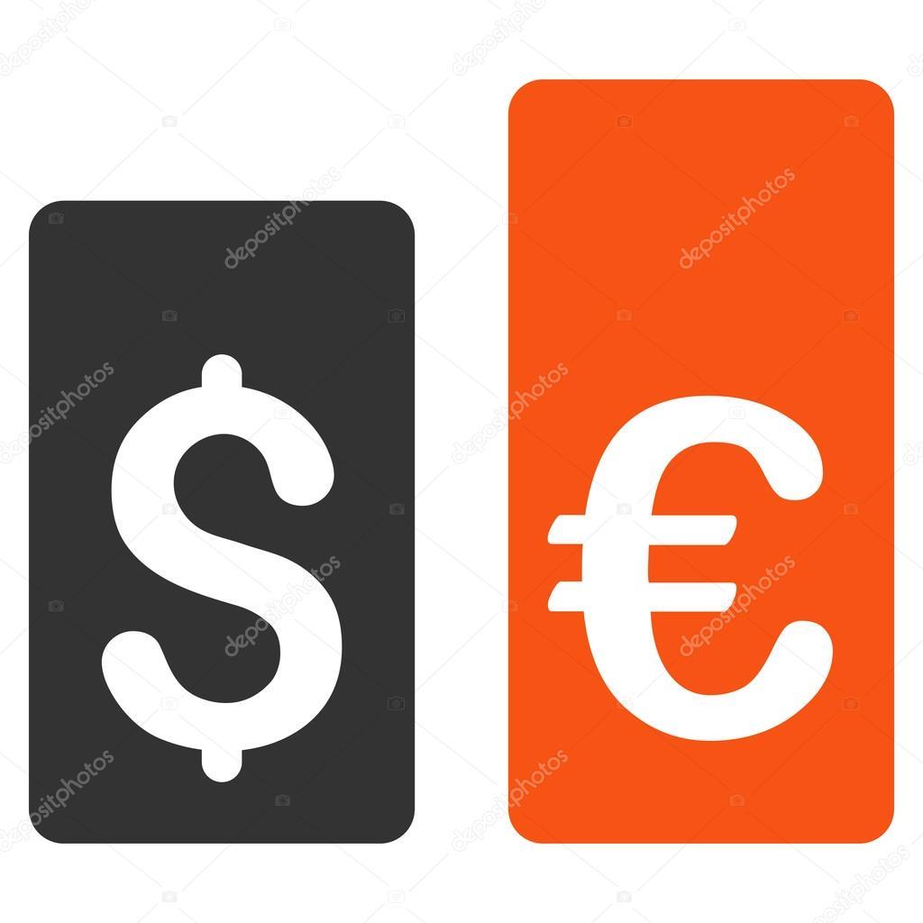 Munt tarief Bars platte Vector Icon — Stockvector © ahasoft #121871008