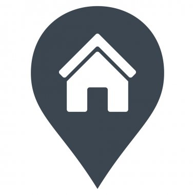 Realty Map Marker Flat Vector Icon