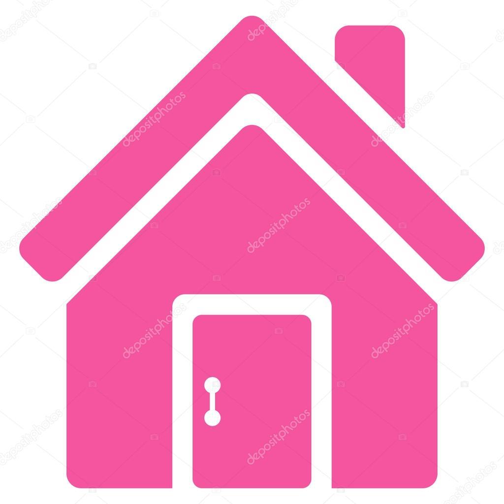 Geschlossene haustür  Tür flach Vektor Haussymbol — Stockvektor #122303836
