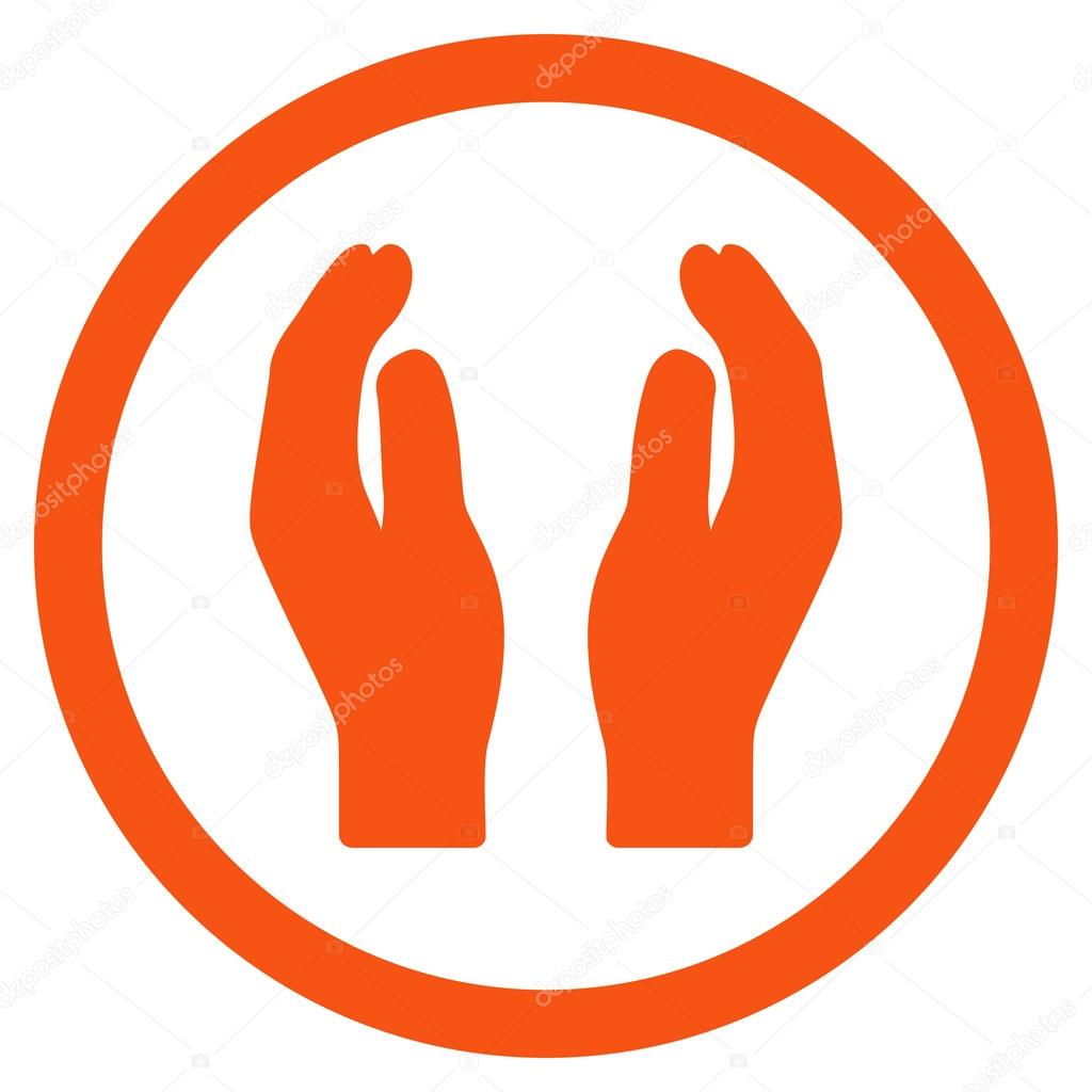 applause hands flat rounded vector icon stock vector ahasoft