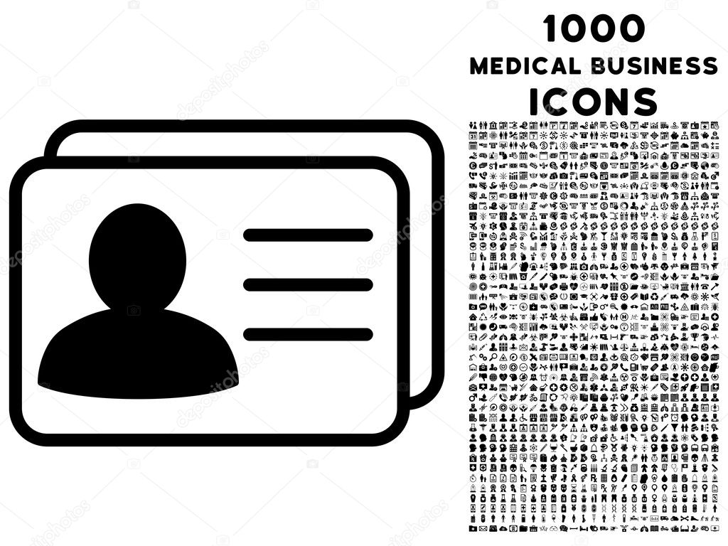 Account cards icon with 1000 medical business icons vetores de account cards vector icon with 1000 medical business icons set style is flat pictograms black color white background vetor de ahasoft reheart Gallery
