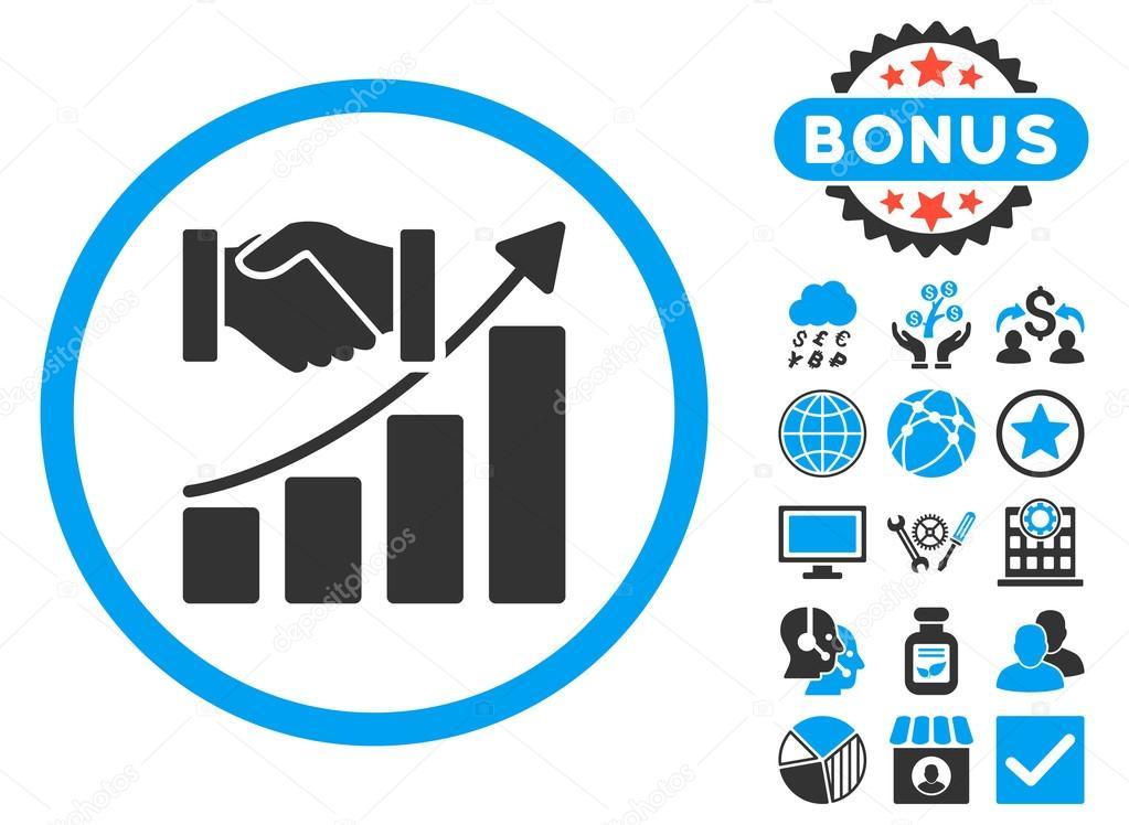 overname groei platte vector icon met bonus stockvector. Black Bedroom Furniture Sets. Home Design Ideas