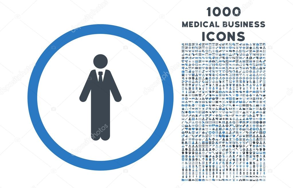 Clerk Rounded Symbol With 1000 Icons Stock Vector Ahasoft 123267624