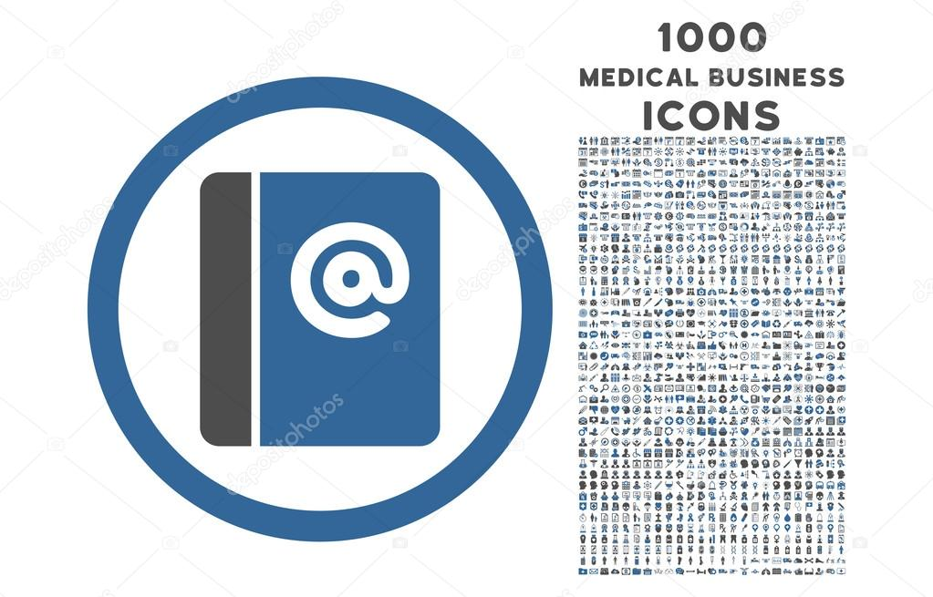 emails rounded icon with 1000 bonus icons stock vector ahasoft