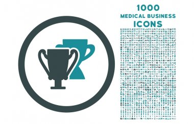 Trophy Cups Rounded Icon with 1000 Bonus Icons