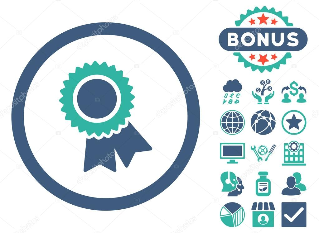 Certification Flat Vector Icon with Bonus — Stock Vector © ahasoft ...