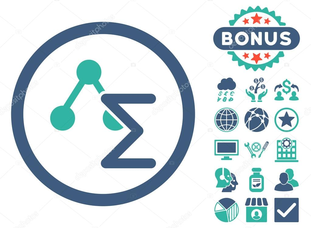 Chemical Formula Flat Vector Icon With Bonus Stock Vector
