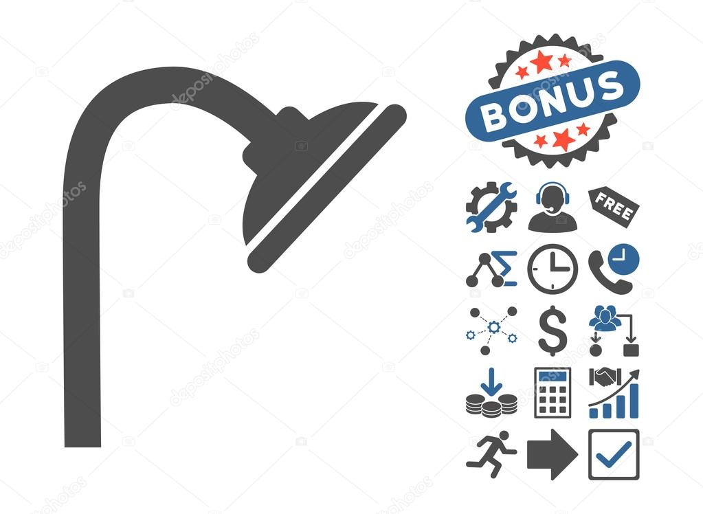 Shower Head Flat Vector Icon With Bonus