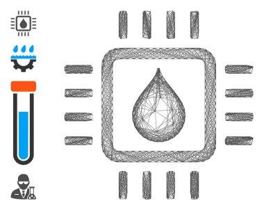 Linear Drop Test Chip Vector Mesh