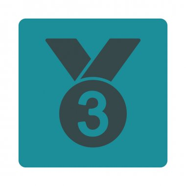 Bronze medal icon from Award Buttons OverColor Set