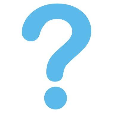 Question flat blue color icon