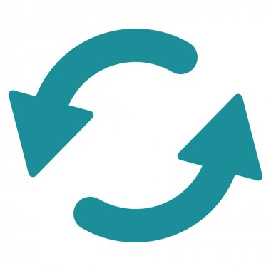 Refresh Ccw flat soft blue color icon