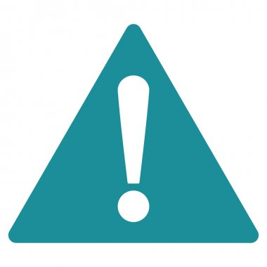 Warning flat soft blue color icon