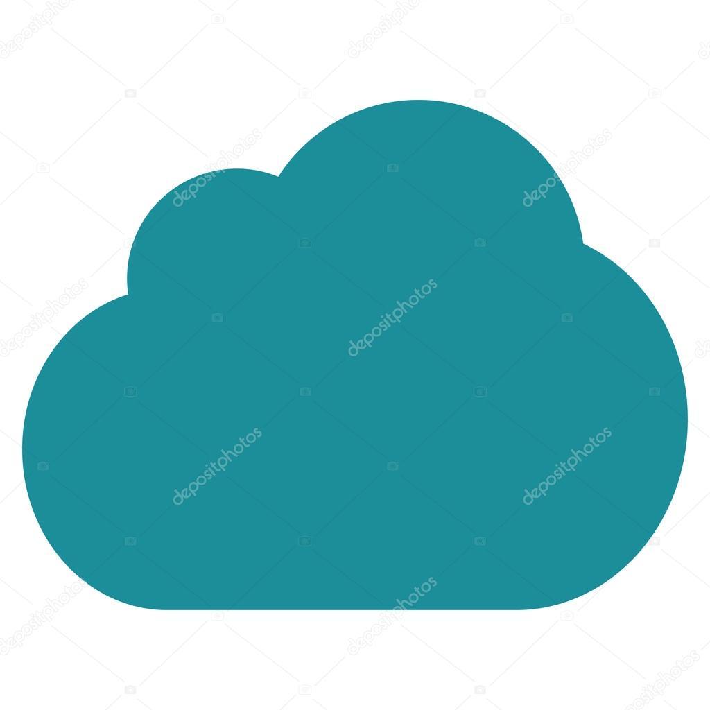 Cloud flat soft blue color icon