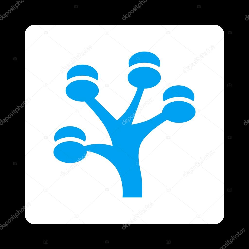Money Tree Icon from Commerce Buttons OverColor Set