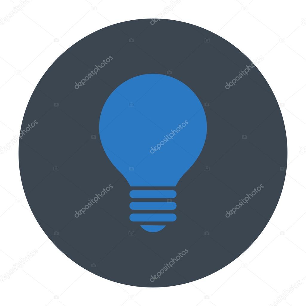Elektrischer Fühler flach glatt blauen Farben runden Knopf ...