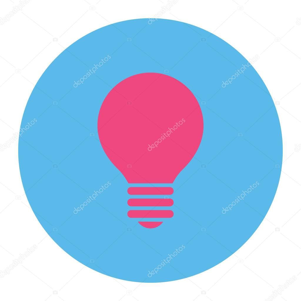 Elektrischer Fühler flach rosa und blauen Farben runden Knopf ...