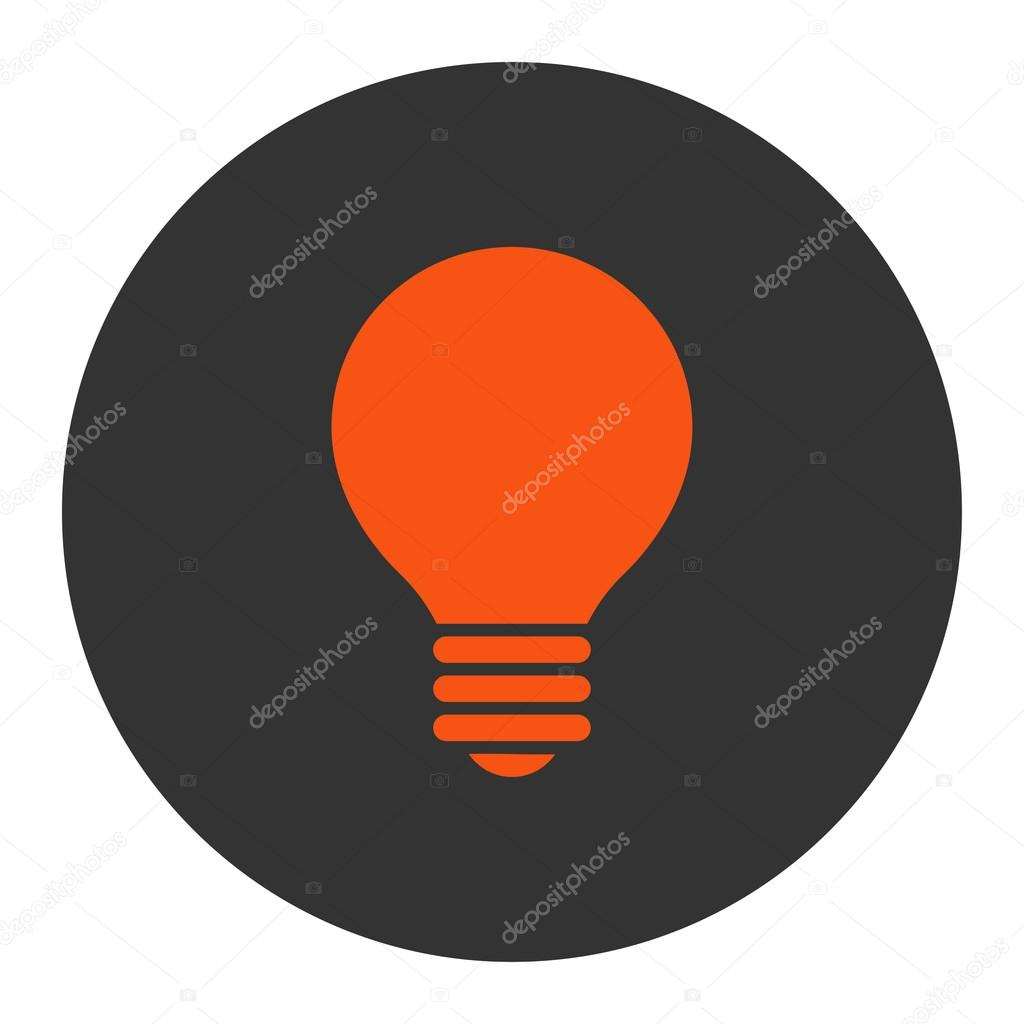 Elektrischer Fühler flach orange und grau Farben runden Knopf ...