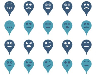Emotion map marker icons.