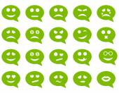 Chatu emoce úsměv ikony