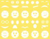 Nástroje, zařízení, úsměv, emoce ikony