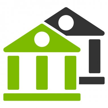 Banks icon from Business Bicolor Set