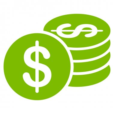 Dollar Coins icon from Business Bicolor Set