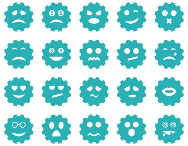 Gear emotion icons