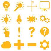 Fényképek Alapvető tudományos és a tudás az ikonok