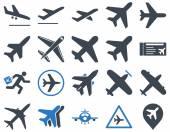 Photo Aviation Icon Set