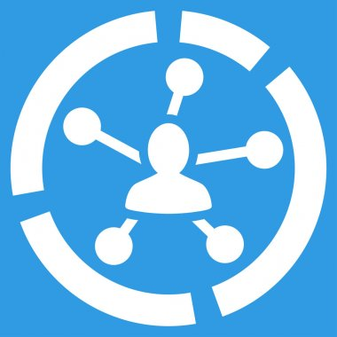 Relations diagram icon from Business Bicolor Set
