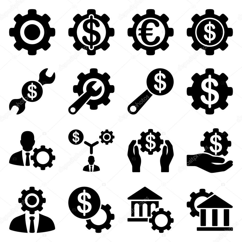 金融工具和选项图标集 — 图库矢量图片#