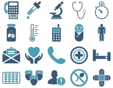 Medical bicolor icons