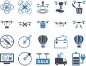 Fényképek Levegő drone és quadcopter tool ikonok