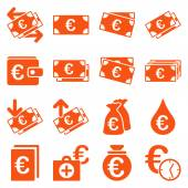 Photo Euro banking business and service tools icons