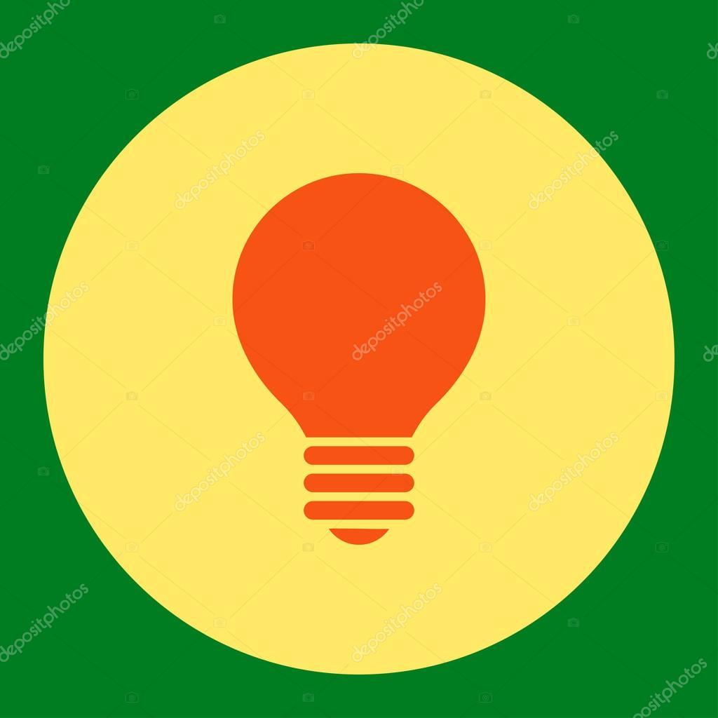 Elektrischer Fühler flach orange und gelbe Farben runden Knopf ...