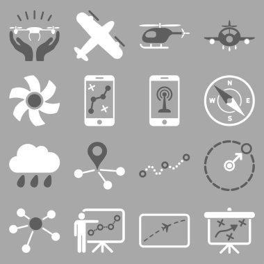 Aircraft navigation icon set