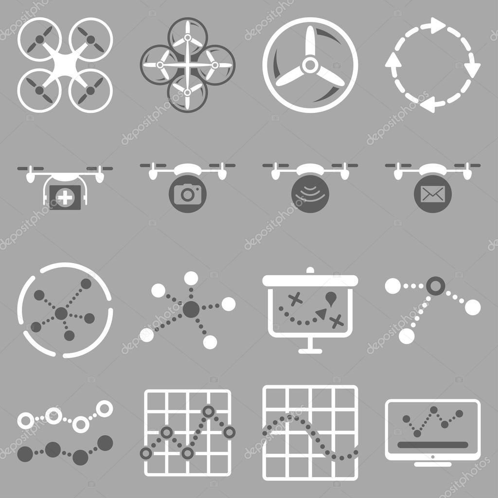Quadcopter navigation icon set