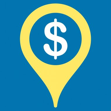 Bank location icon from Business Bicolor Set