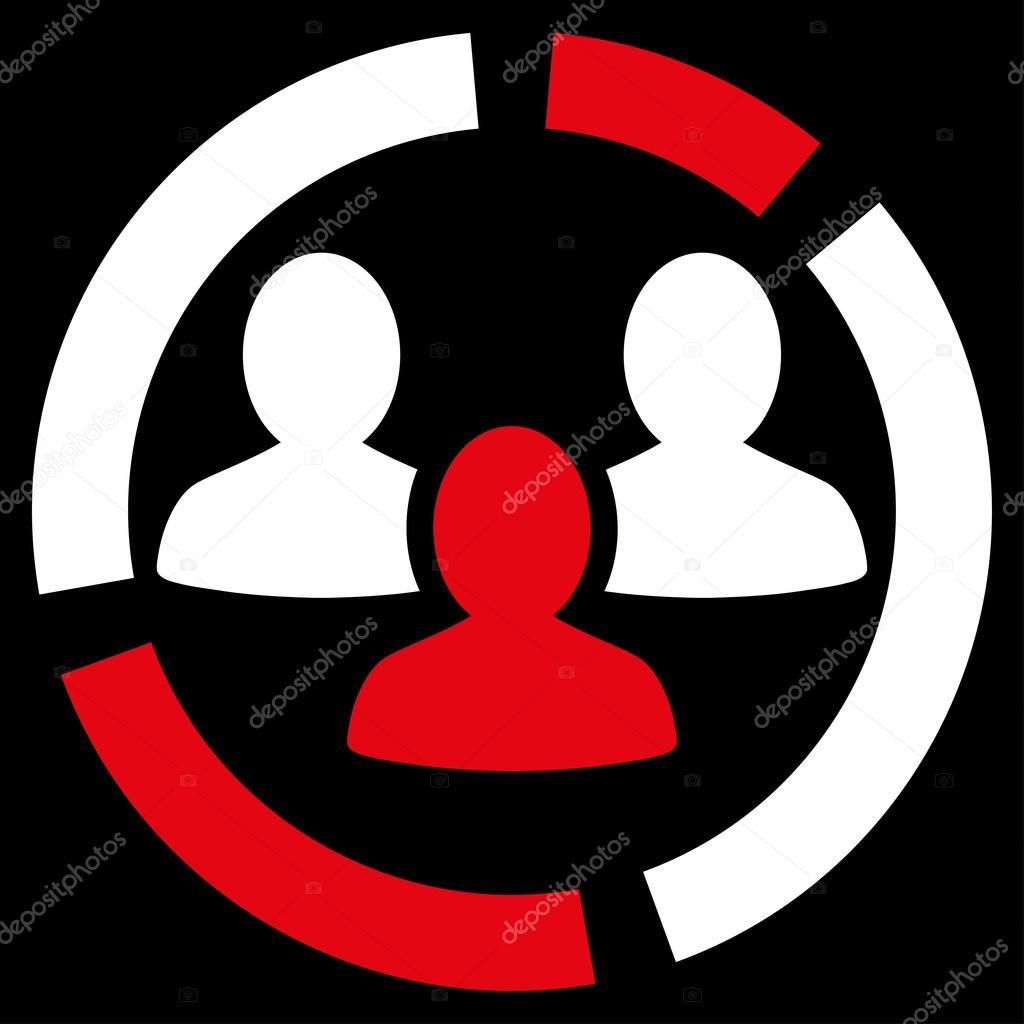 demography diagram icon from business bicolor set stock vector rh depositphotos com