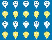 Emoce mapa značka ikony