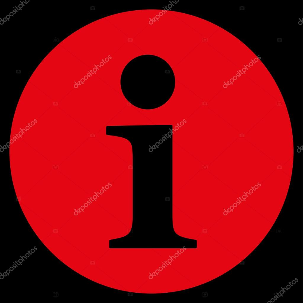 Informationen Flache Rote Farbe Symbol Stockvektor C Ahasoft 84564486
